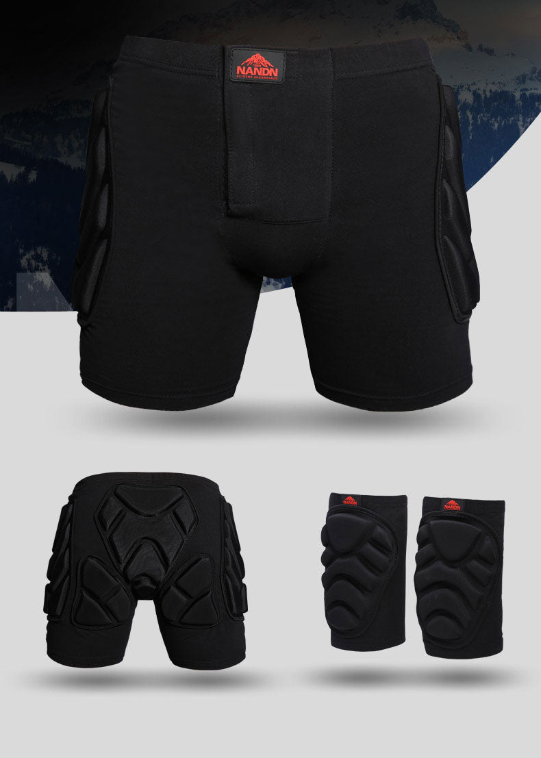 Nandn Unisex Undercover Protective Shorts & Knee Pads Set