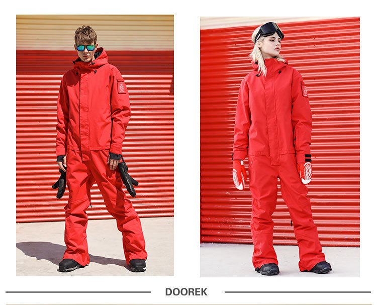 Doorek Superb One Piece Ski Jumpsuit Winter Snowsuits