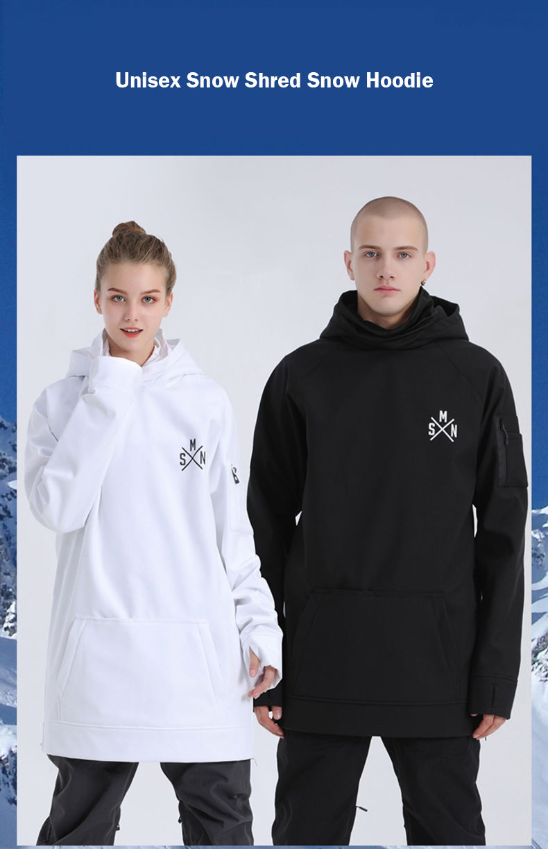 SMN Unisex Snow Shred Pullover Hoodie
