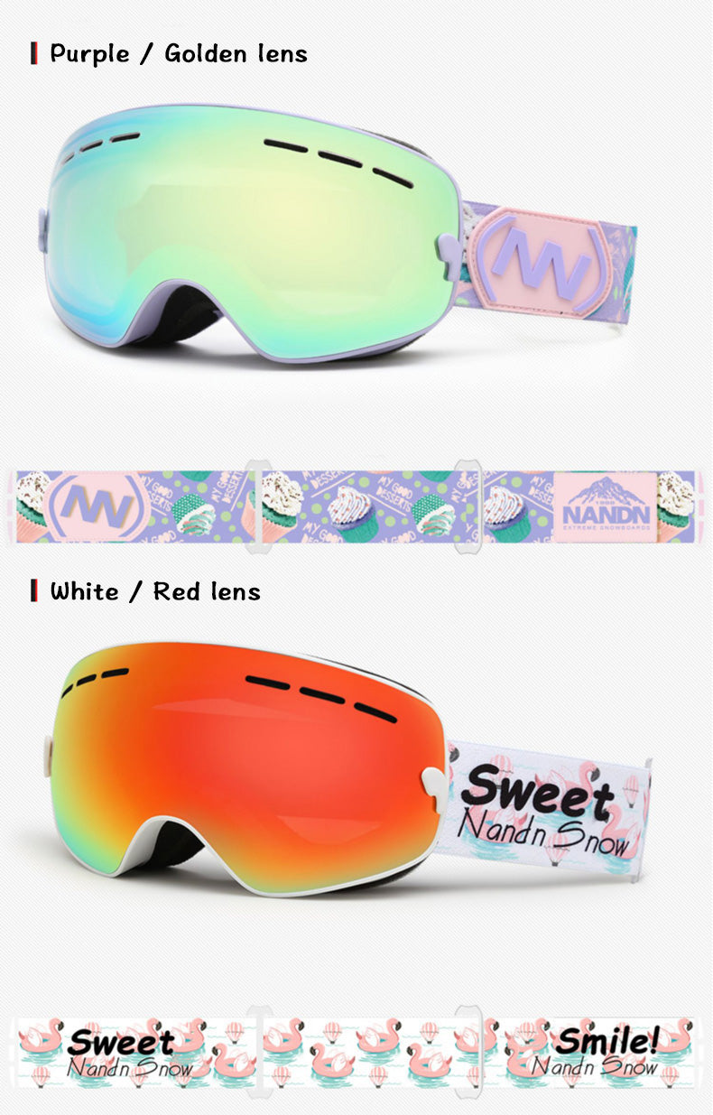 Kid's Nandn Unisex Winter Outdoor Snow Goggles Package Ski Goggles Sale