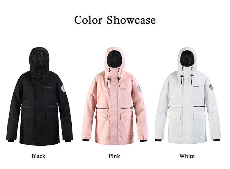 SMN Unisex Mountain Break Winter Parka Snowboard Jacket