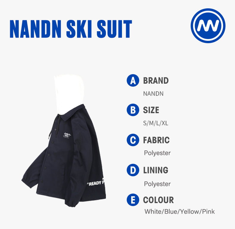 Mens Nandn Bomber Spring Fall Outdoor Mountain Windproof Hooded Shirt