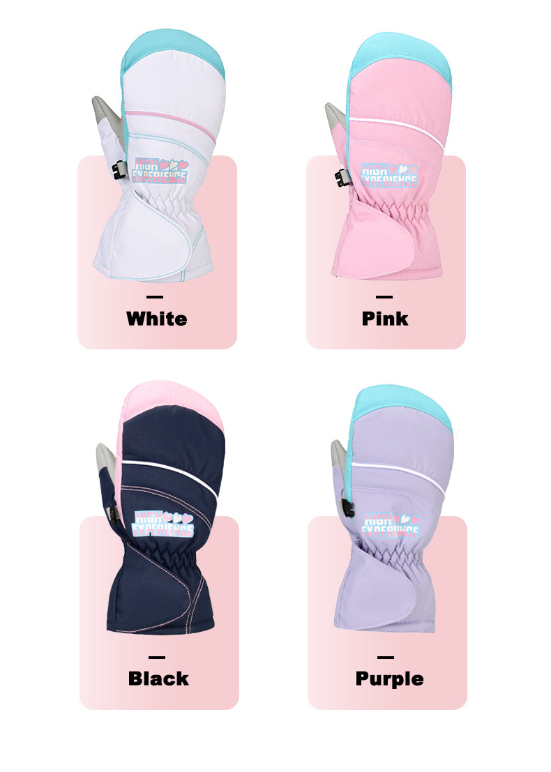 Kid's High Experience Winter Mountain Waterproof Outdoor Snow Gloves