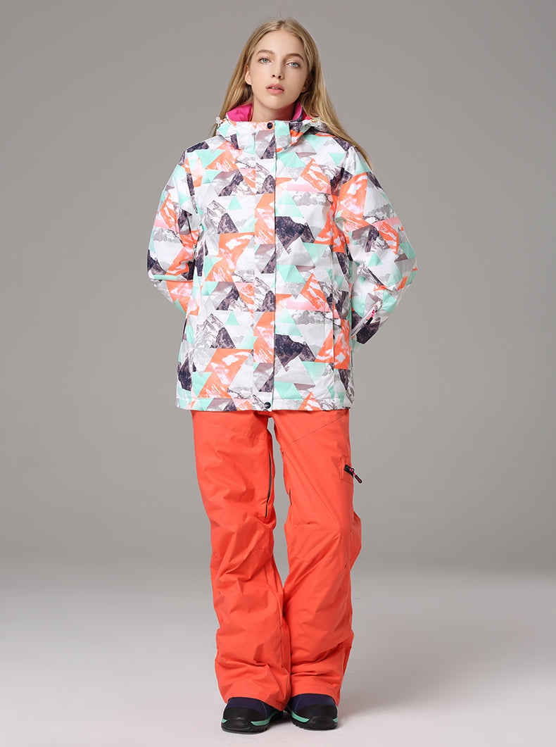 Women's Searipe Mountain Explore Colorful Waterproof Ski Jacket