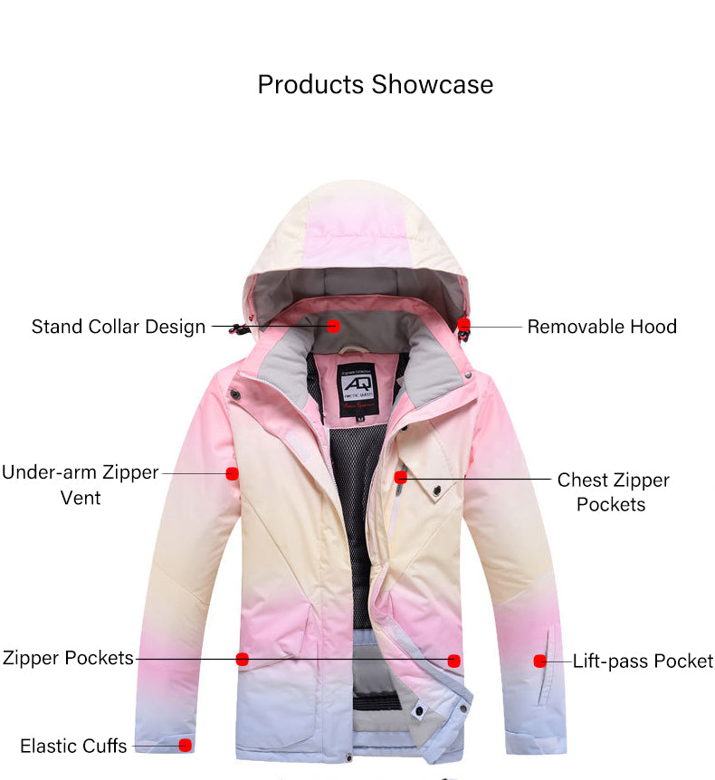 Women's Arctic Queen Trouvaile Winter Outdoor Insulated Snow Jacket