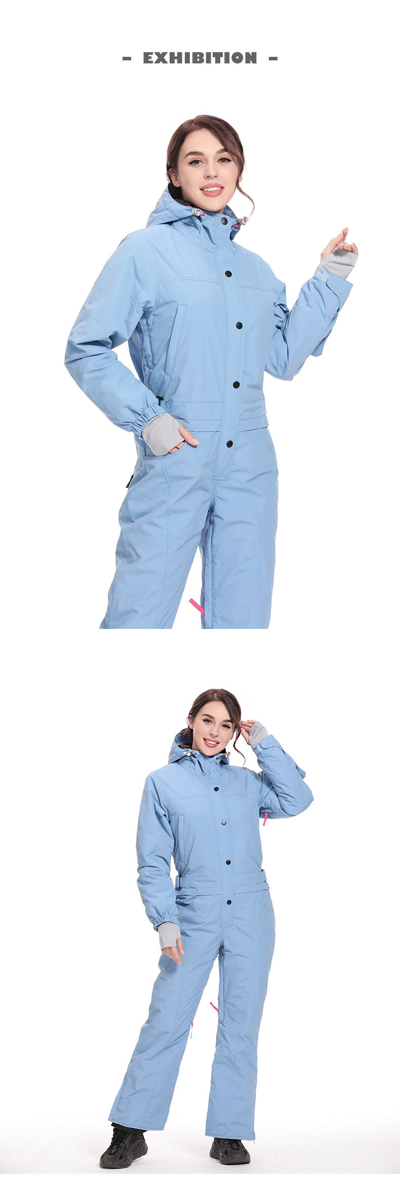 Women's SNBOCON Backcountry Epic Overall One Piece Ski Suits Winter Snowsuits