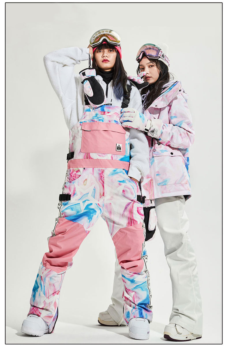 Women's Vector Snow Queen Insulated Overalls Bib Snow Pants