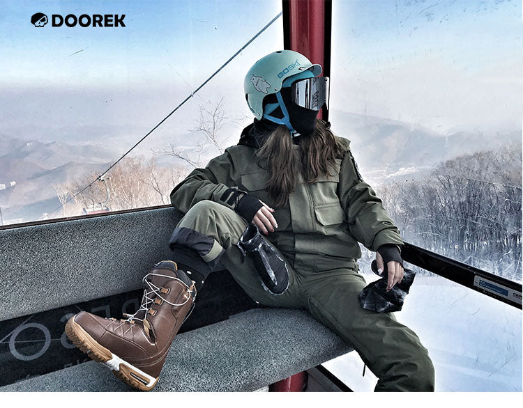 Doorek Superb Army Green One Piece Ski Suits Winter Snowsuits