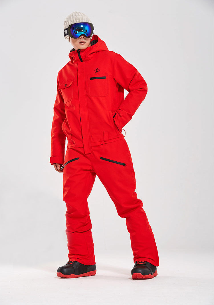 Men's Winter Fashion Mountains One Piece Ski Jumpsuit Snowboard Suits