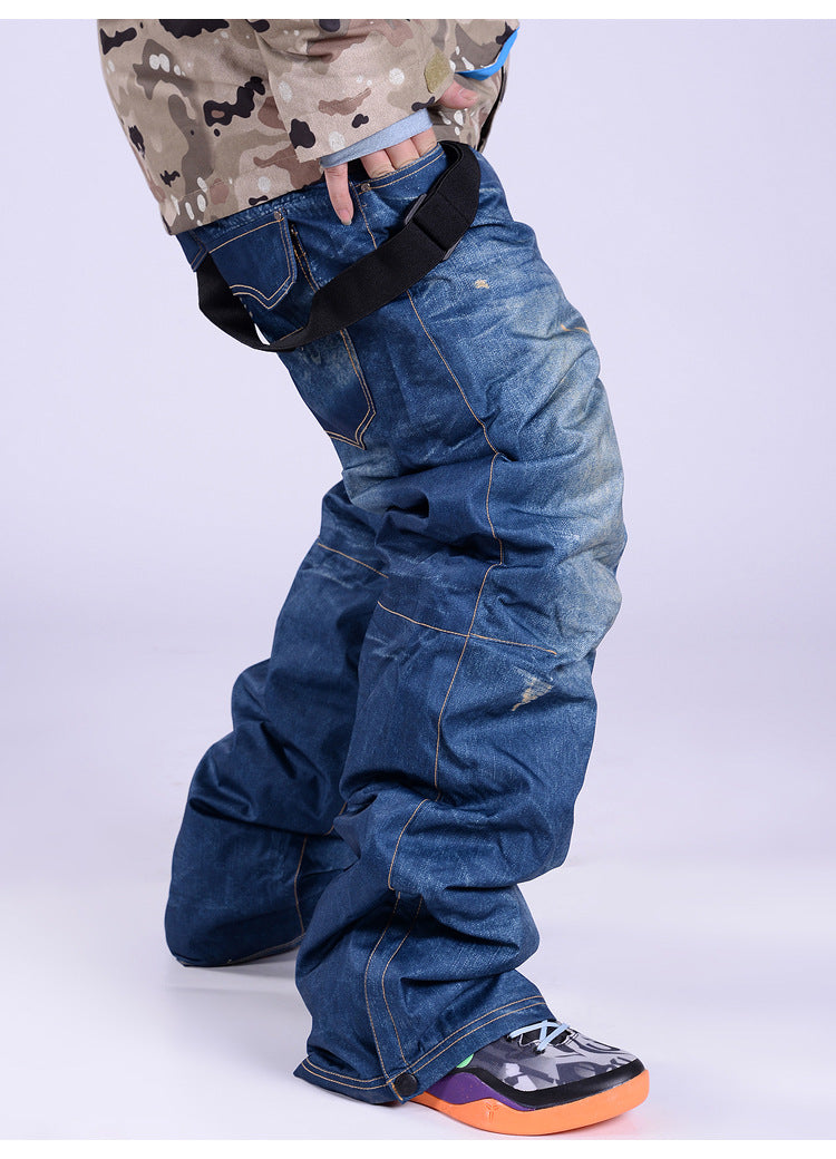 Men's Fashion Outdoor Life Jeans Denim Bib Overall Relaxed Pants