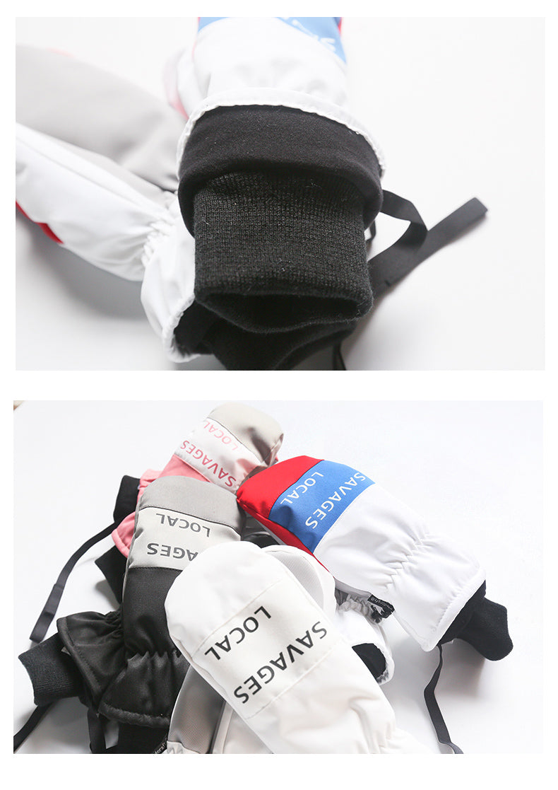 Unisex Mad Craft Color Mix Waterproof Snowboard Mittens
