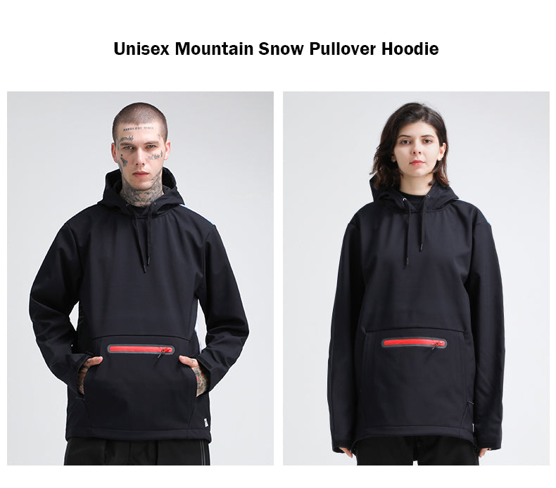 Gsou Snow Unisex Mountain Snow Pullover Hoodie