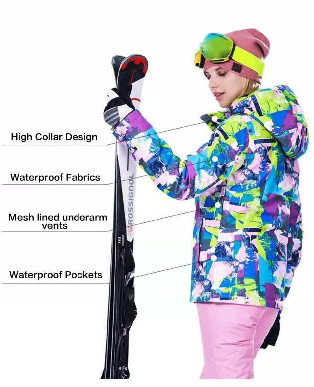 Women's High Experience Mountain Pictures 15k Waterproof Ski Suits