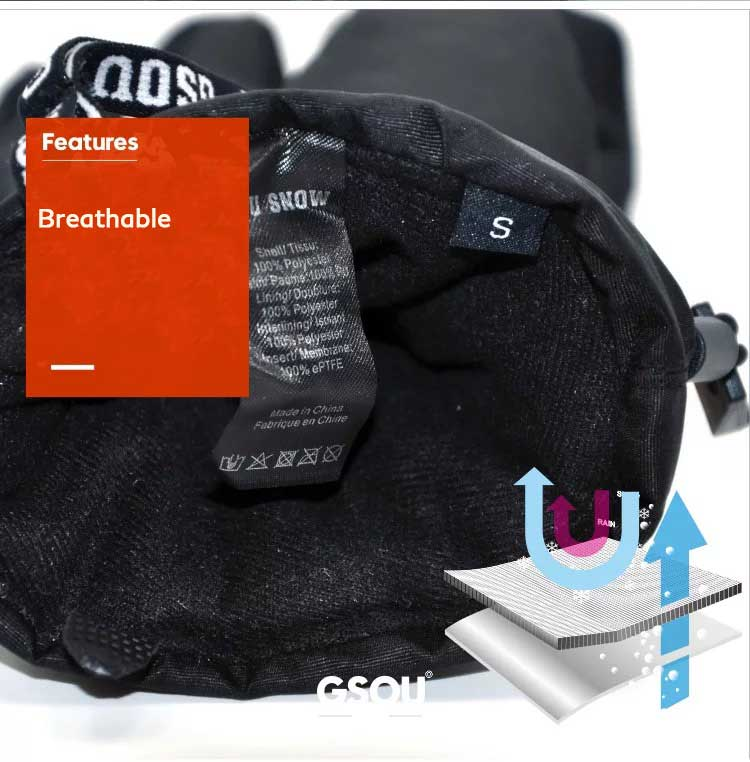 Gsou Snow Gloves Men Style - Snowverb