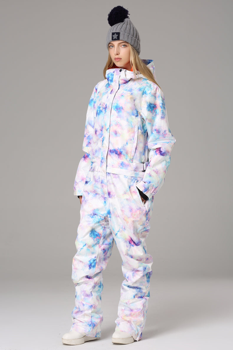 Women's Searipe One Piece Colorful Ski Suits Winter Jumpsuit Snowsuits
