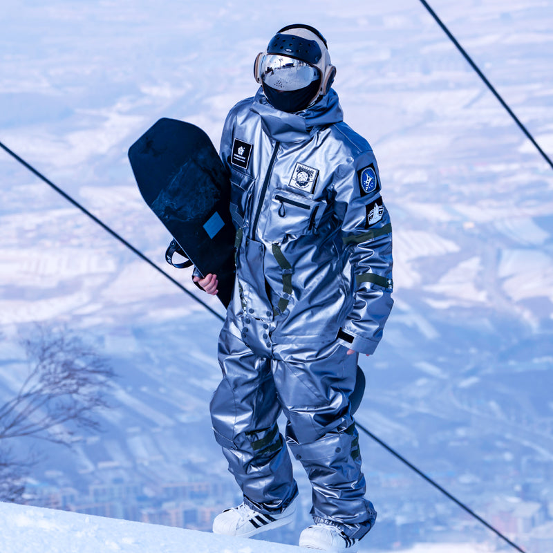 Men's PINGUP Nasa Space Winter Mountain Ultimate Exploration One Piece Snowboard Suits