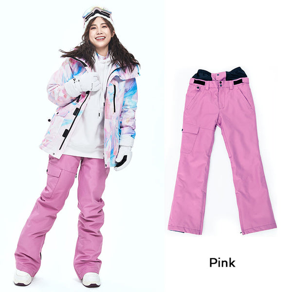 Women's Vector 10k Waterproof Mountains Girl Pink Snowboard/Ski Pants