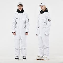 Men's Unisex Nandn Mountain Player Winter One Piece Jumpsuit Snowsuits