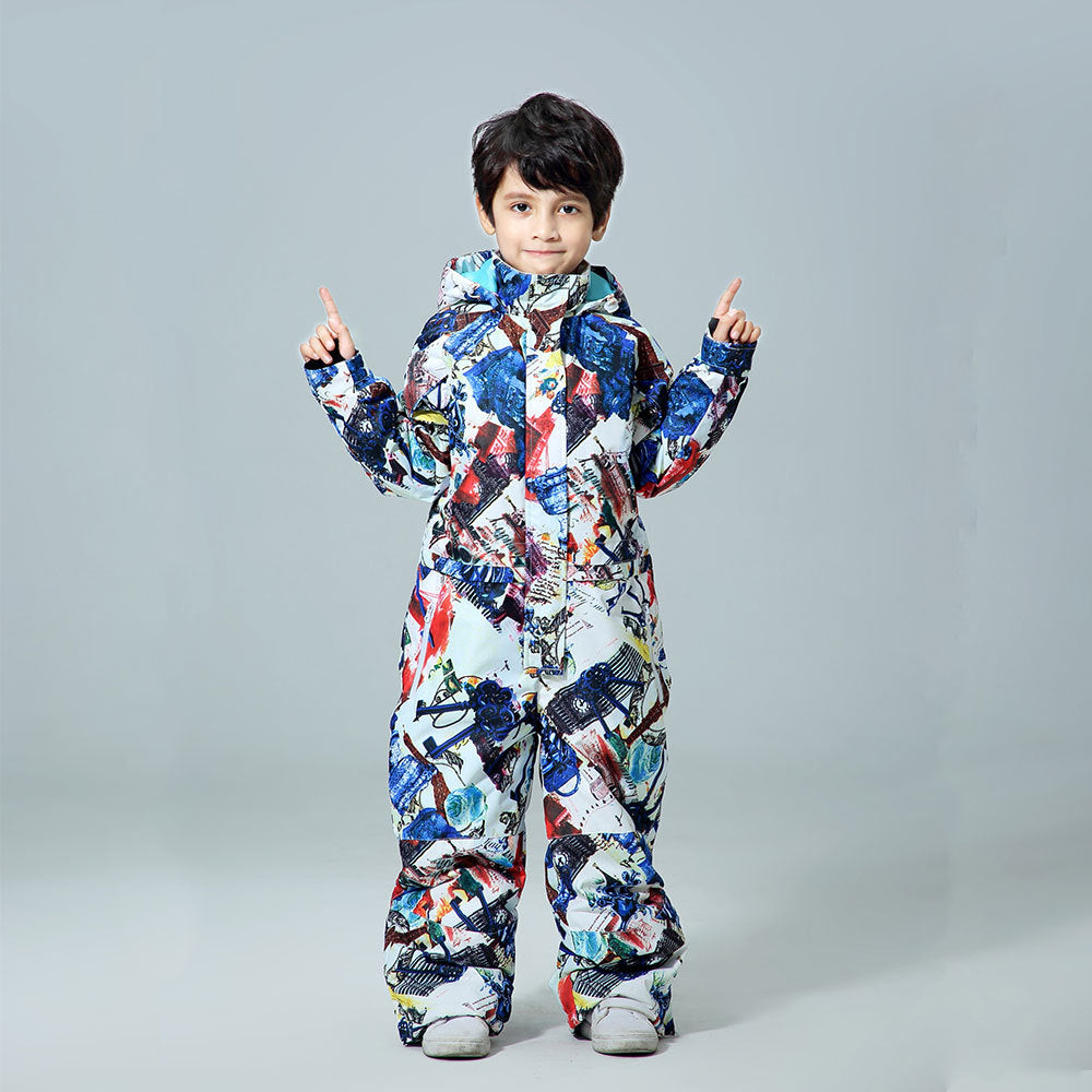 Boys One Piece New Style Fashion Ski Suits Winter Jumpsuit Snowsuits