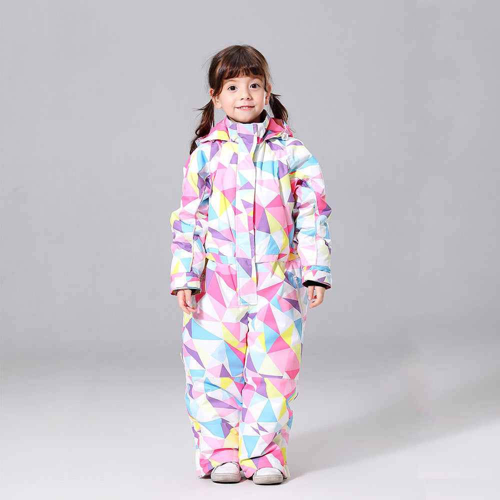 Girls One Piece Style Winter Fashion Ski Suits Winter Jumpsuit Snowsuits