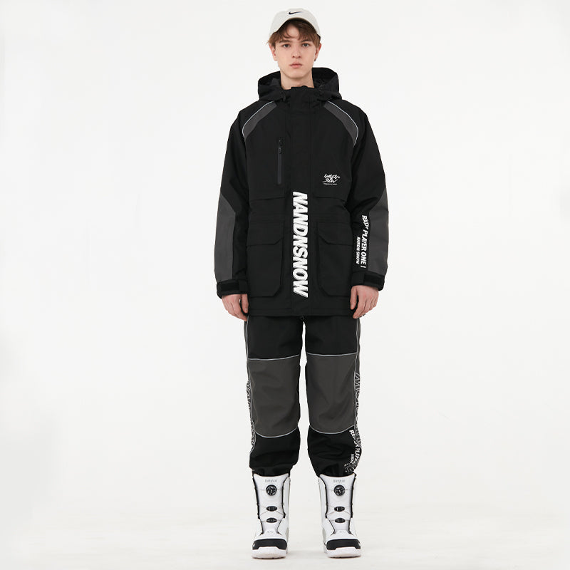 Men's Nandn Ski Suits Street Style Winter Mountain Snowboard Suit
