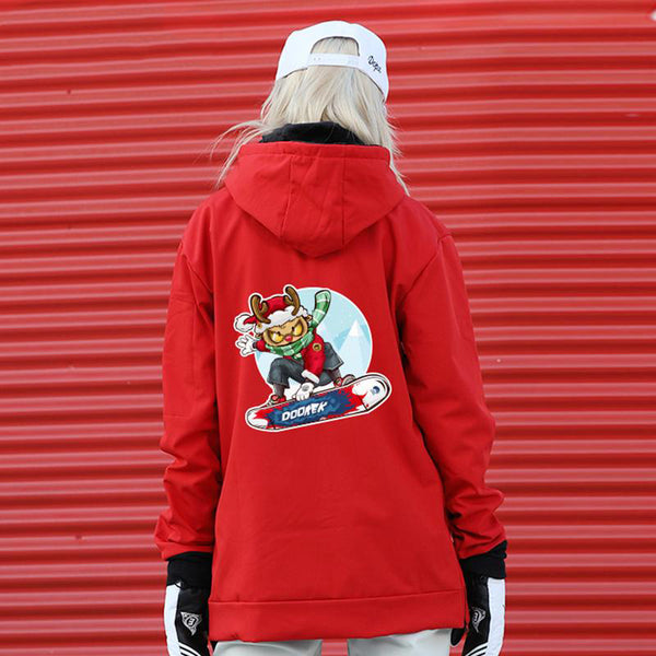 Women's Doorek Unisex Xmas Theme Pattern Snow Hoodie