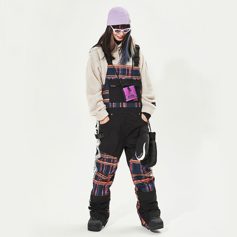 Women's Vector Oxford Vintage Insulated Overalls Bib Snow Pants
