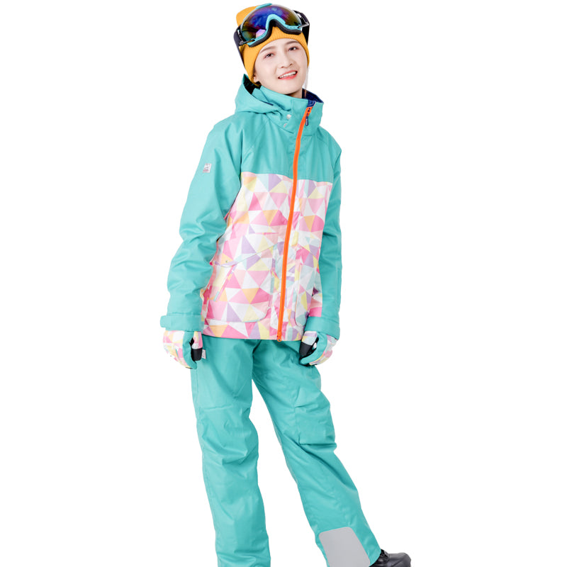 Northfeel Brand Women's 10k Waterproof Colorful Ski Suits - Multi Colors