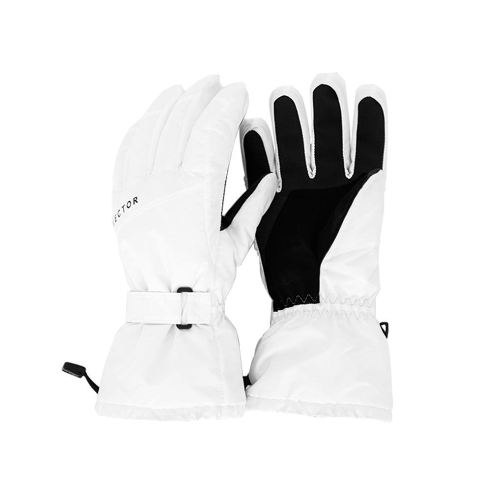 Women's Vector Snow White Waterproof Ski Snowboard Gloves