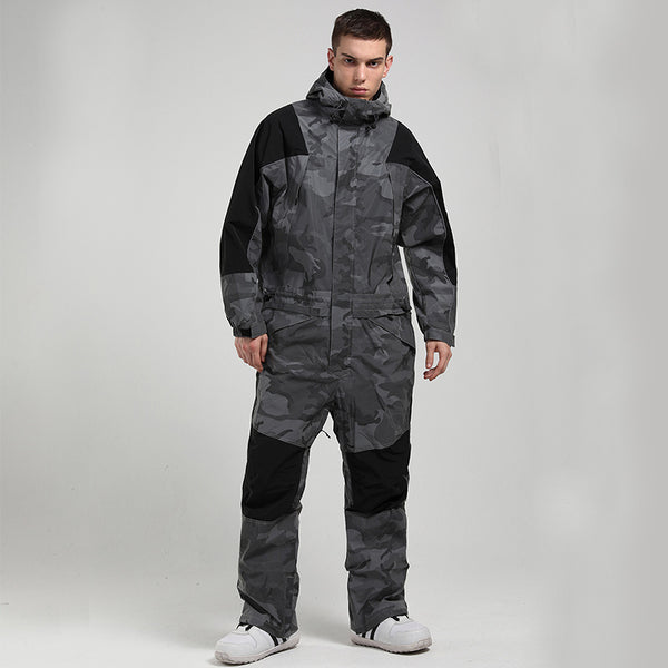 Men's Mountain Destroyer Snowshred One Piece Ski Suits Winter Snowsuits