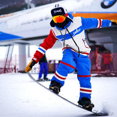 Men's PINGUP Ice Hockey Dope Style One Piece Snowboard Suits