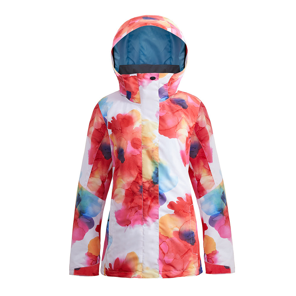 Women's SMN Bright Colorful New Fashion Waterproof Winter Snowboard Jacket