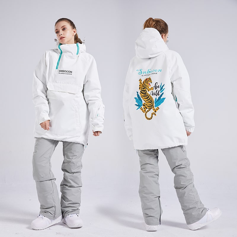 Women's Snow Tech Unisex Pullover Waterproof Snowsuit Set