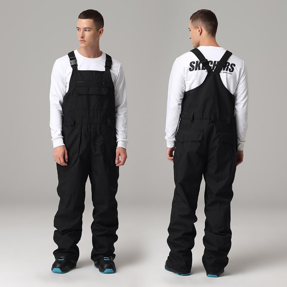Men's Searipe Mountain Terry Winter Snow Pants Overall Snowboard Bibs