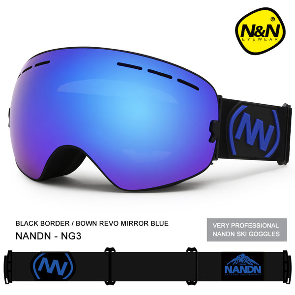 Unisex Nandn Fall Line Colorful Snowboard Goggles