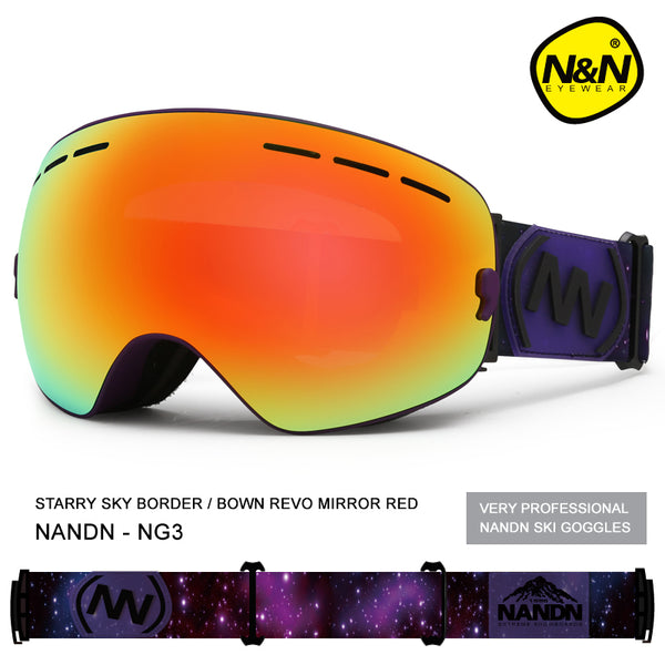 Unisex Nandn Fall Line Colorful Ski Goggles
