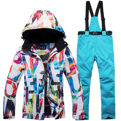 Women's Bright Colorful Performance Insulated Ski Suits Jacket and Pants Set
