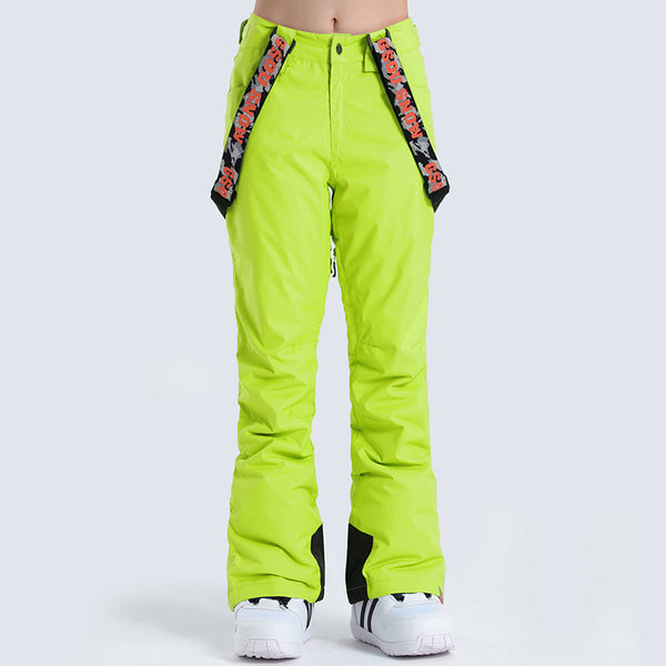 Womens Gsou Snow 10k Waterproof Warm Highland Freestyle Bib Ski Pants