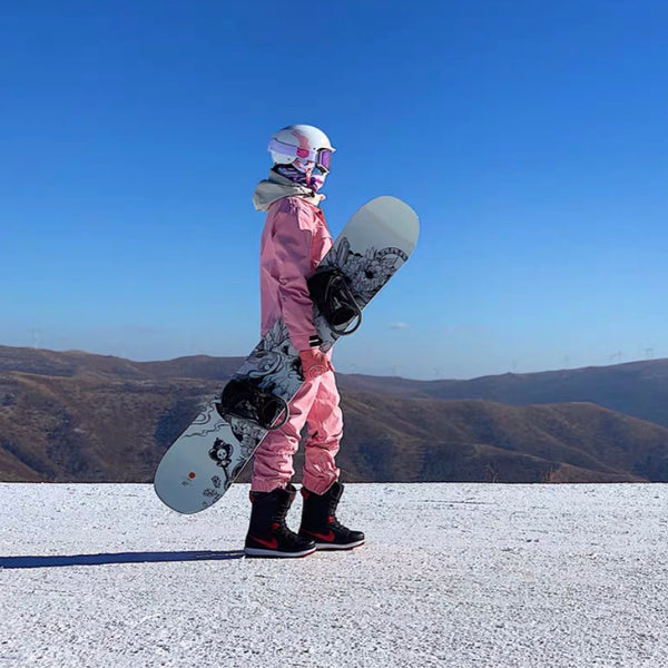 Women's Doorek Superb Pink One Piece Ski Suits Winter Snowsuits