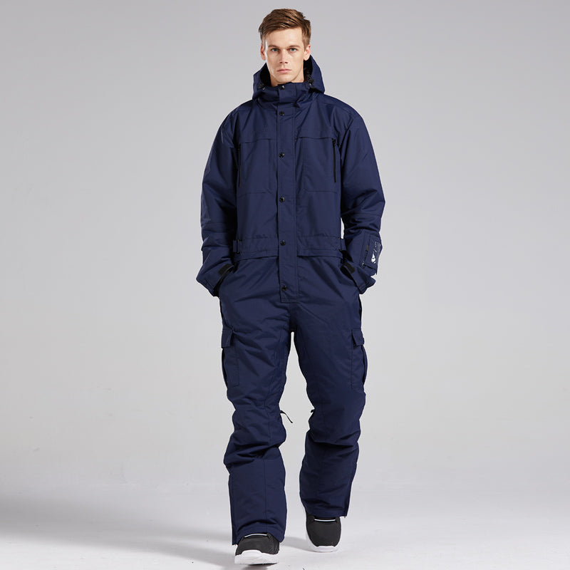 Men's Blue Magic All Weather Mountain Discover One Piece Ski Jumpsuit Winter Snowsuits