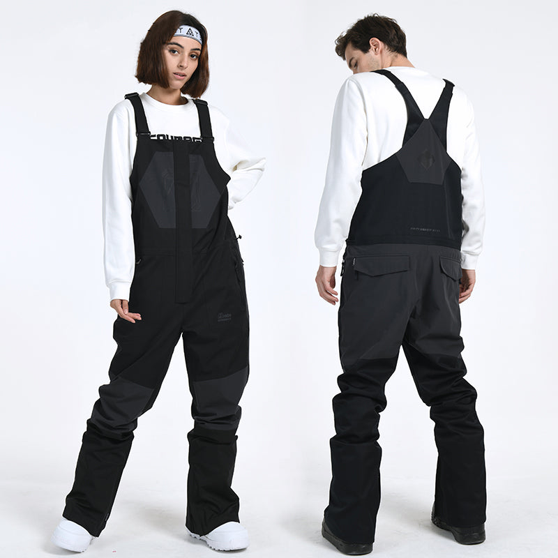 Men's Winter Mountain Slim Fit Ski Pants Overall Bib Snow Pants