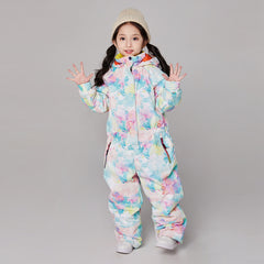 Girls Searipe One Piece Stylish Ski Suits Winter Jumpsuit Snowsuits