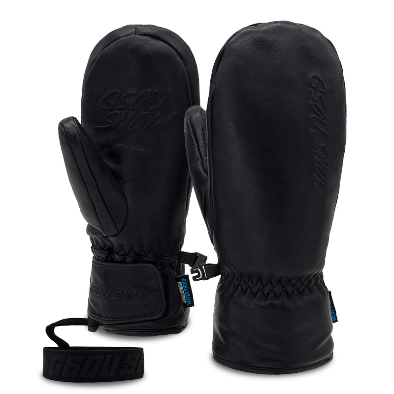 Men's Gsou Snow Goat Leather Winter All Weather Snow Mittens