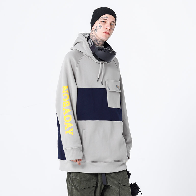 Men's Nobaday Hey X-Summer Winter Mountain Snow Hoodie