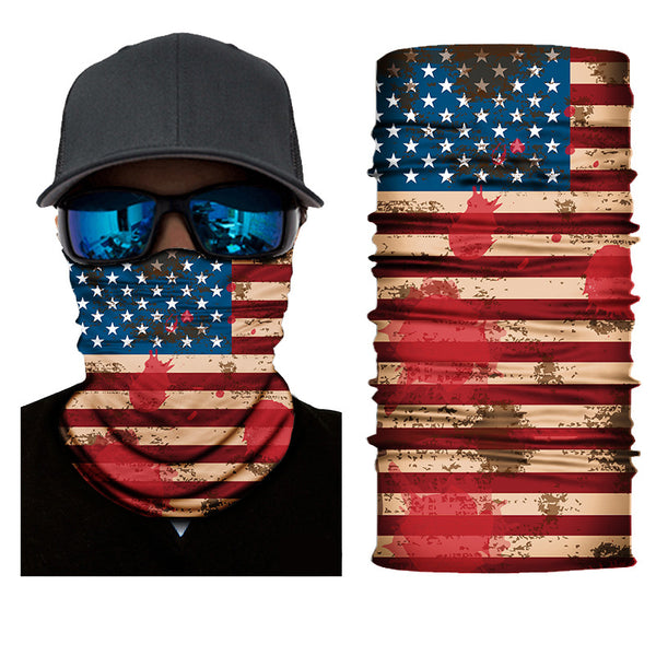 Unisex American Flag Pattern Face Masks & Neck Warmer