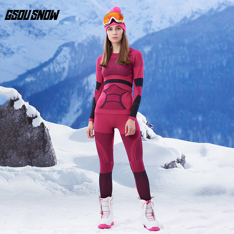 Women's Gsou Snow Winter Warmers Fleece Thermal Baselayer Set