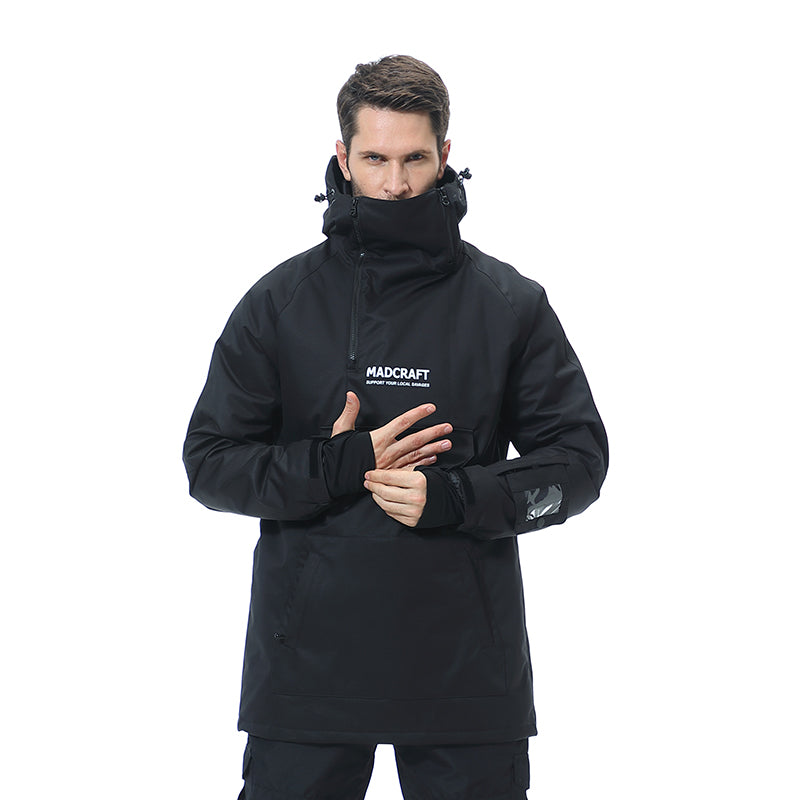 Men's Unisex Mad Craft Snow Tech Unisex Pullover Waterproof Snow Hoodie