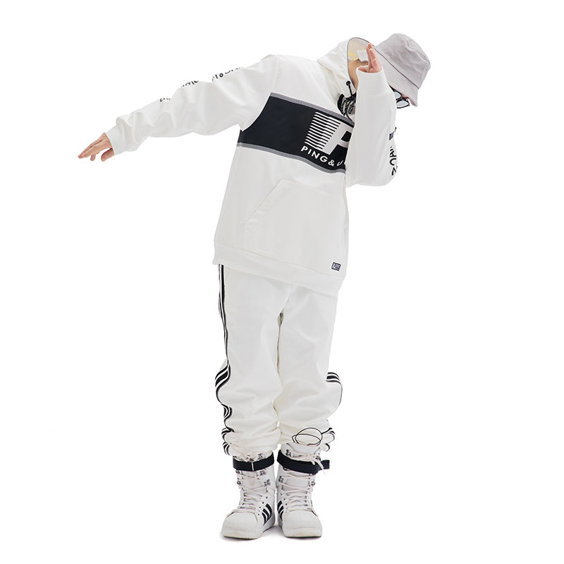 Womens PINGUP Old School Hip Hop Snowboard Suit Jacket & Pants Set