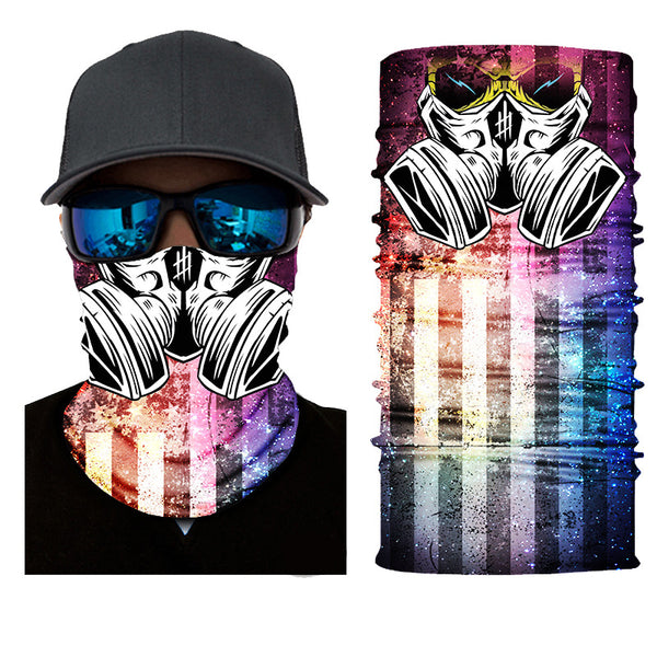 Unisex Toxic Gas 3D Pattern Face Masks & Neck Warmer