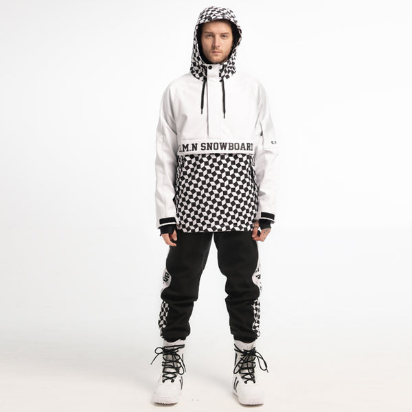 SMN Top Fashion Mens Snowboard Suit Snowsuit Jacket & Pants Set